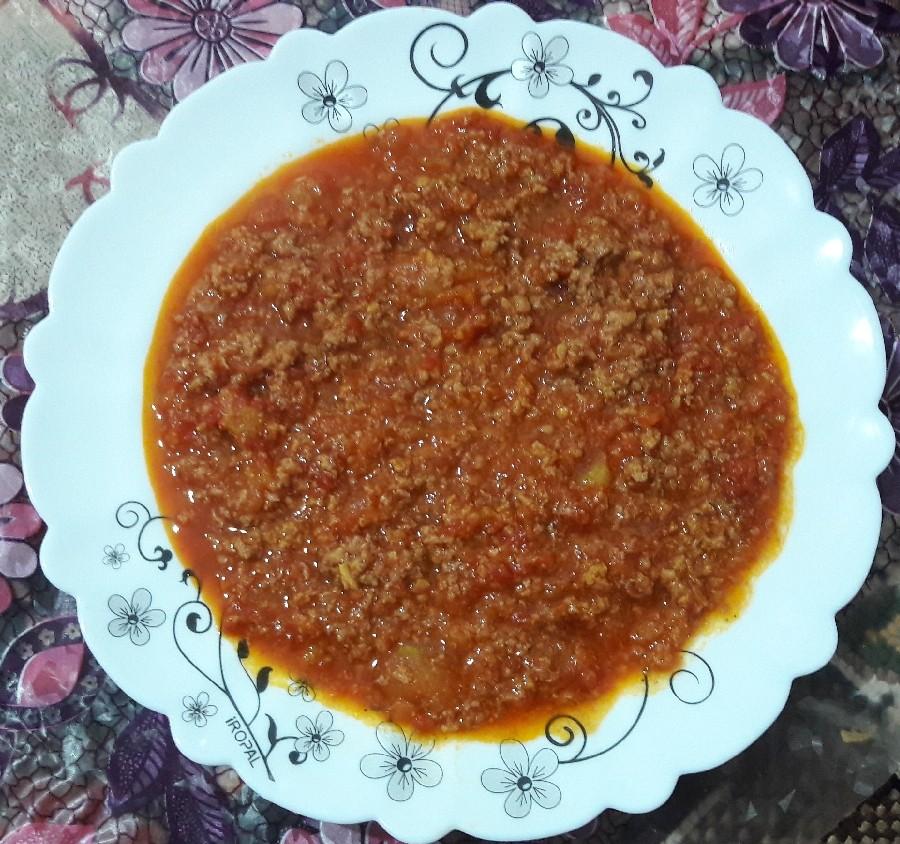 خوراک گوشت و گوجه