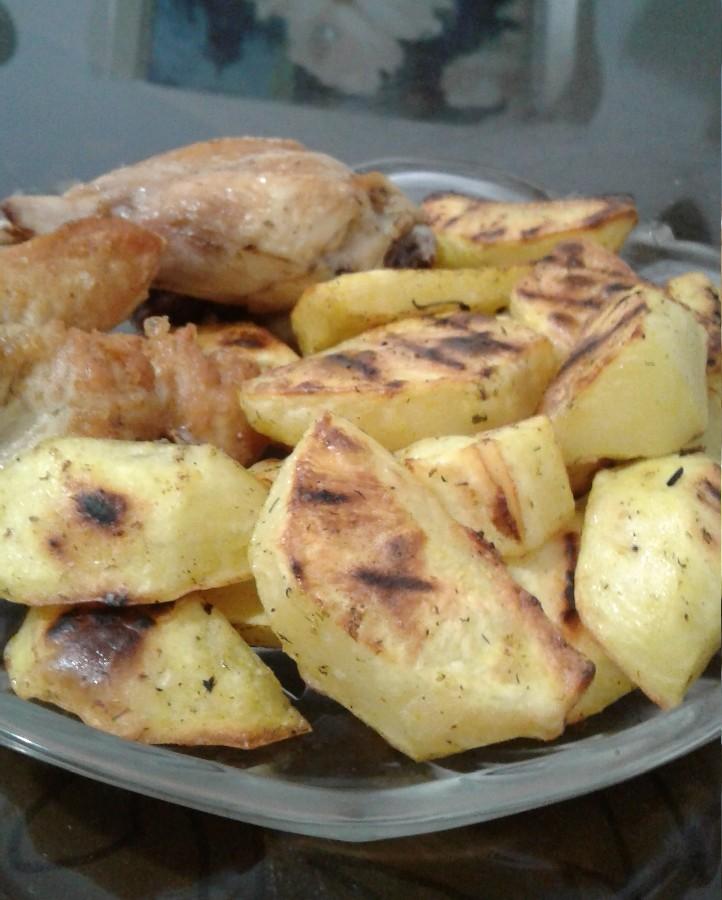 سیب زمینی کبابی در تابه رژیمی