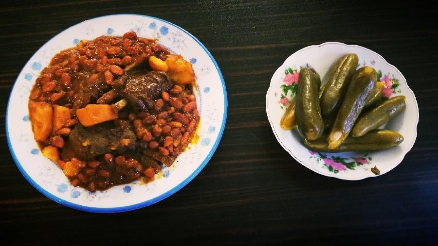 خوراک گوشت و لوبیا نوش نگاه قشنگتون
