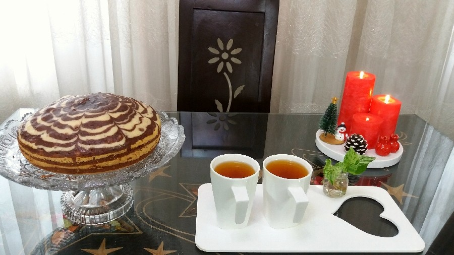 کیک زبرا♡