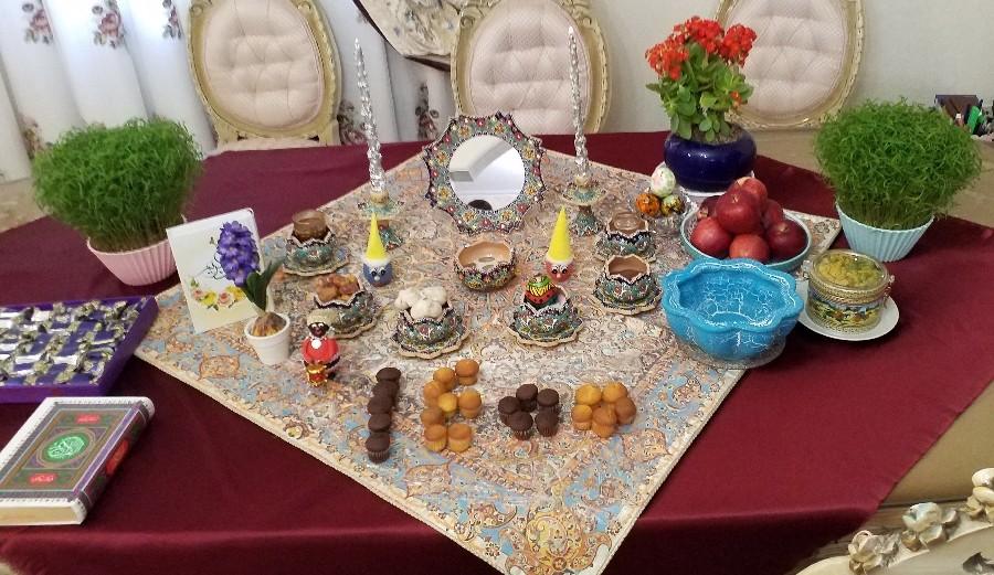 سفره هفت سین ما  عیددد مبارککک