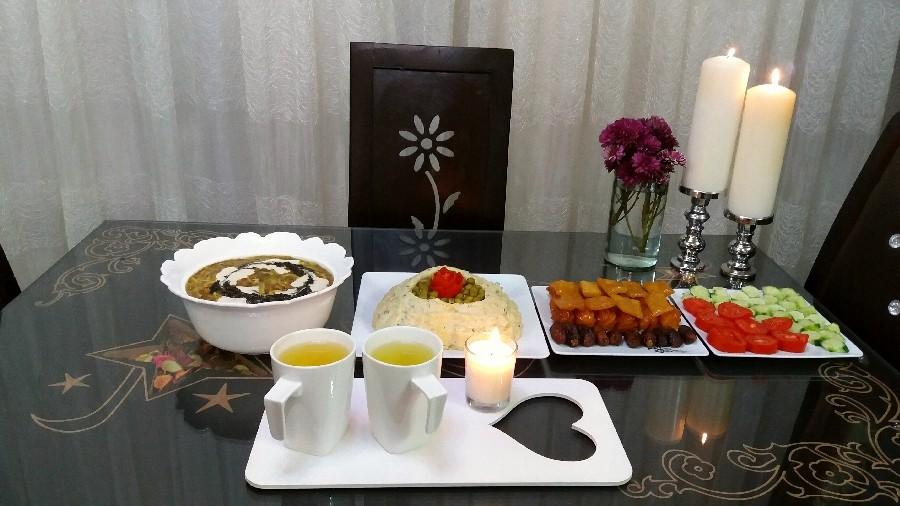 افطاری با دمنوش گل زعفران♡