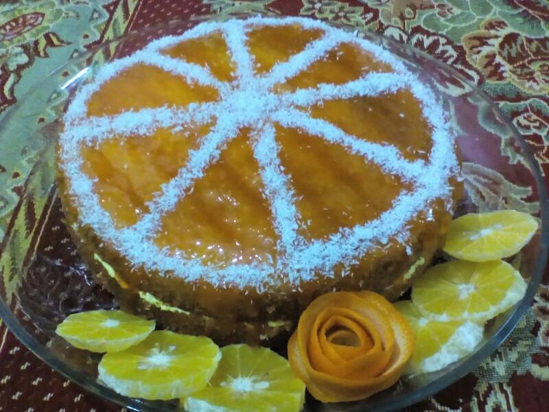عکس کیک پرتقالی