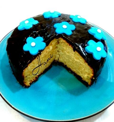 عکس کیک پرتقالی با رویه ی گاناش
