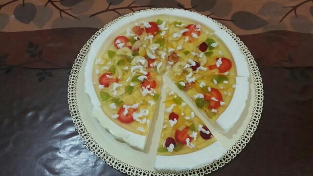 عکس ژله به شکل پیتزا