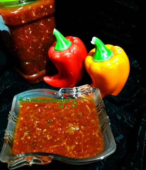 عکس ترشی گوجه فرنگی