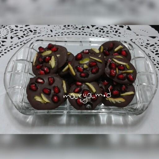 عکس شکلات اناری ویژه ی یلدا