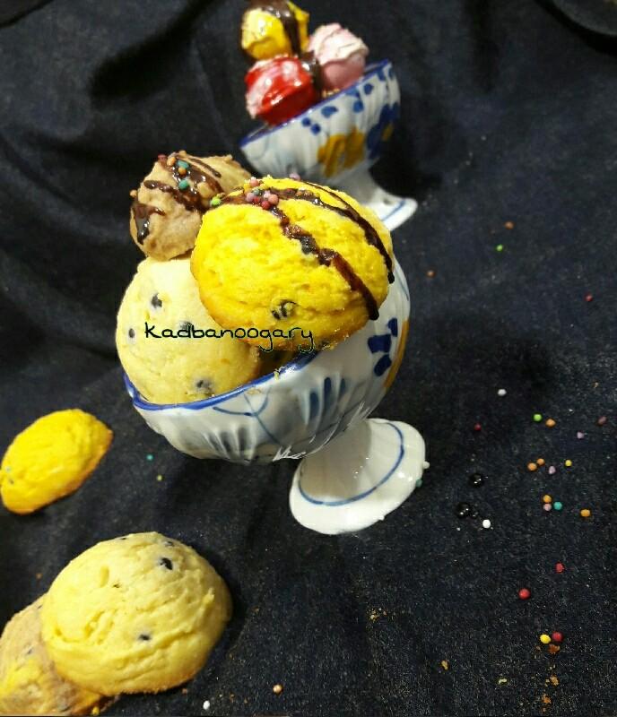 عکس شیرینی خشک به شکل بستنی