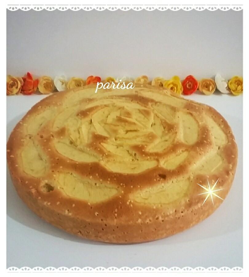 عکس کیک سیب بدون روغن