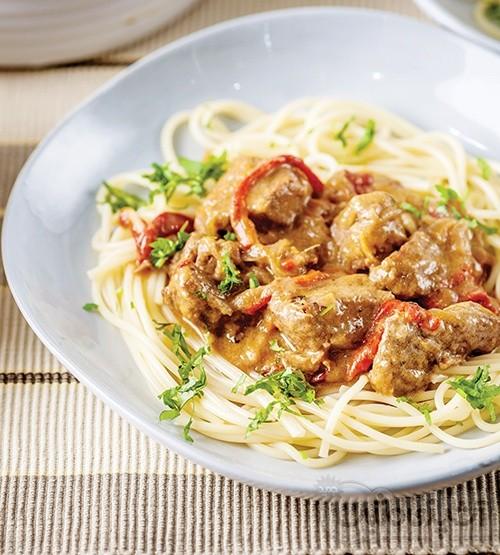 عکس اسپاگتی با خوراک گوشت