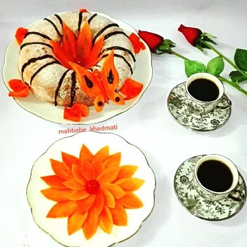 عکس کیک هویج