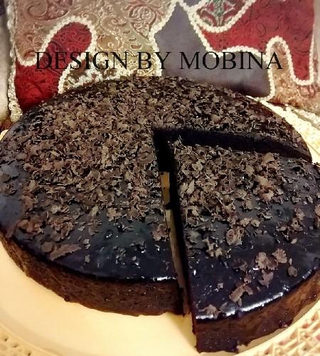 عکس کیک برنجی شکلاتی