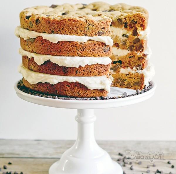عکس کیک گردویی با خامه