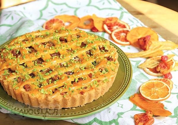 عکس تارت کیک میوه های خشک