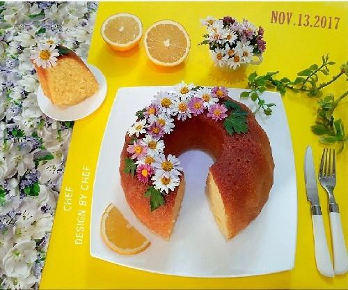 عکس کیک خیس پرتقالی