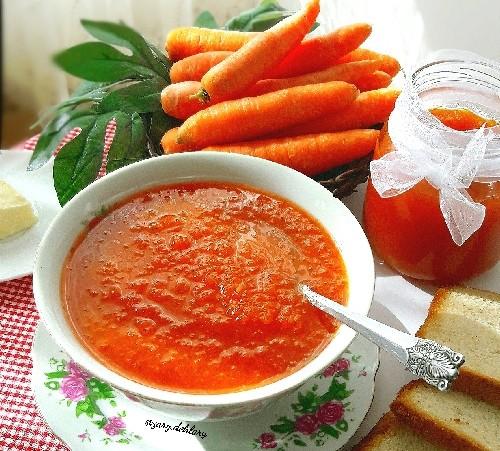 عکس مربای هویج با طعم نارنج