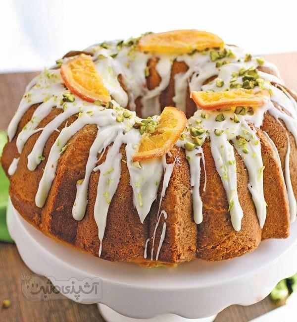 عکس کیک پرتقال با کرم