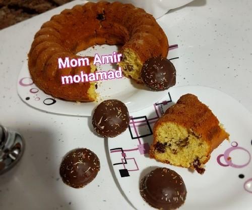 عکس کیک کشمشی گردویی