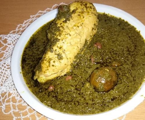 عکس قرمه سبزی با مرغ