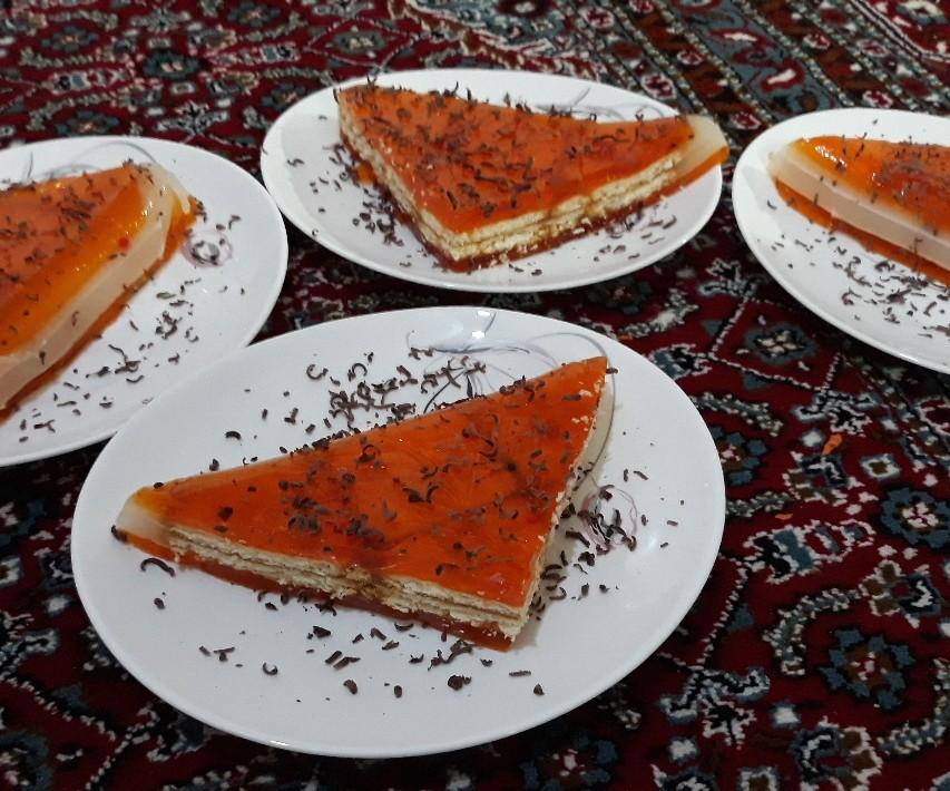 ژله بستنی پرتقالی مواد 1