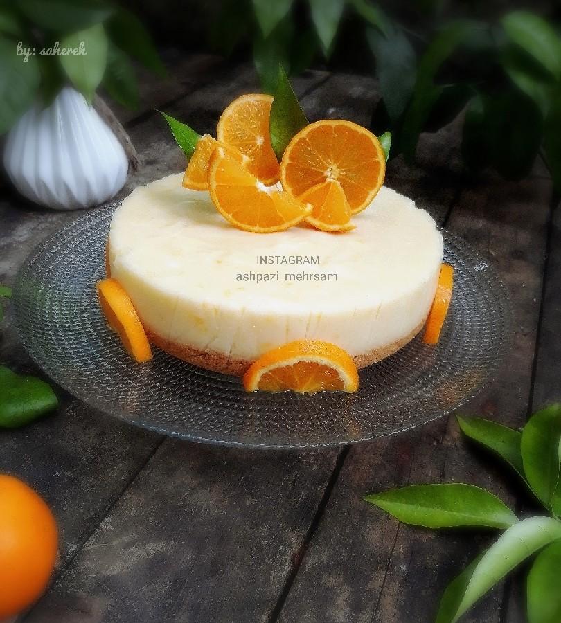 عکس فرنی پرتقالی با کراست بیسکوئیت
