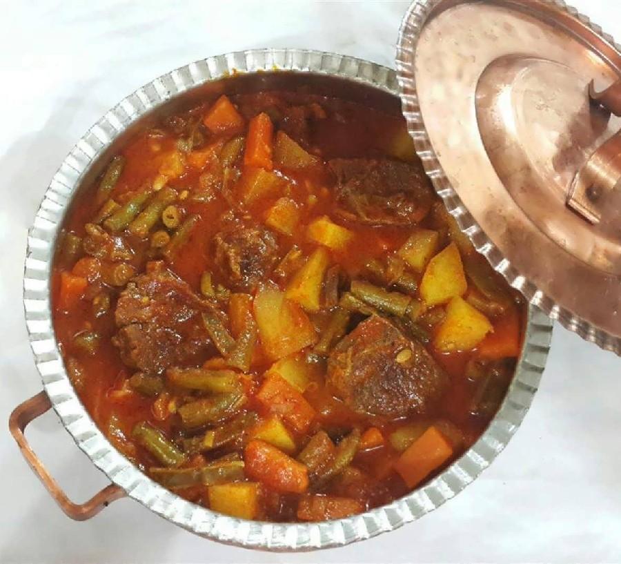 عکس خوراک لوبیا سبز