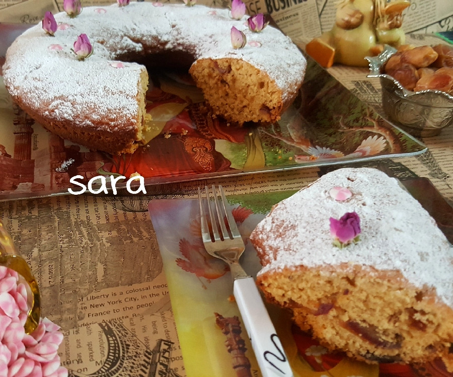 عکس کیک خرمایی( خرما خشک)