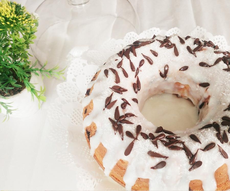 عکس کیک نارگیلی با روکش کرم نارگیلی