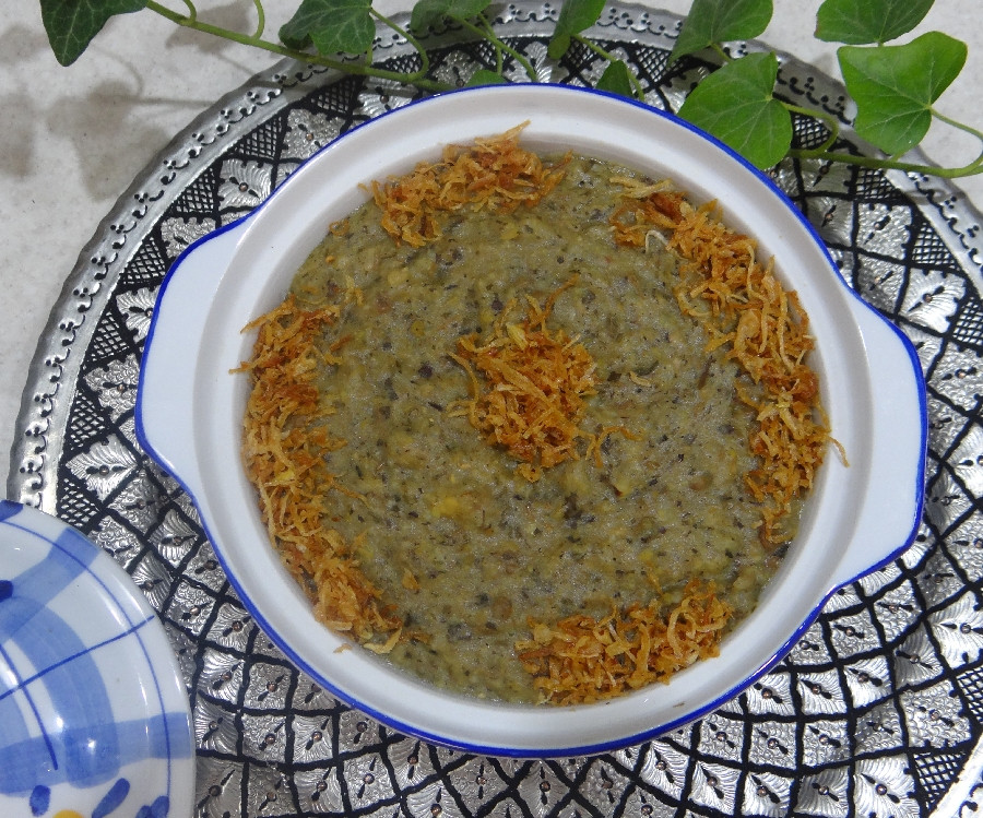 عکس آش سبزی سنتی شیرازی