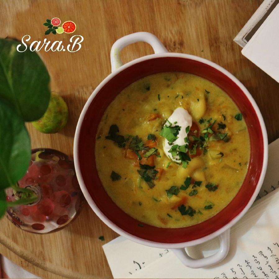 عکس سوپ سبزیجات و شیر