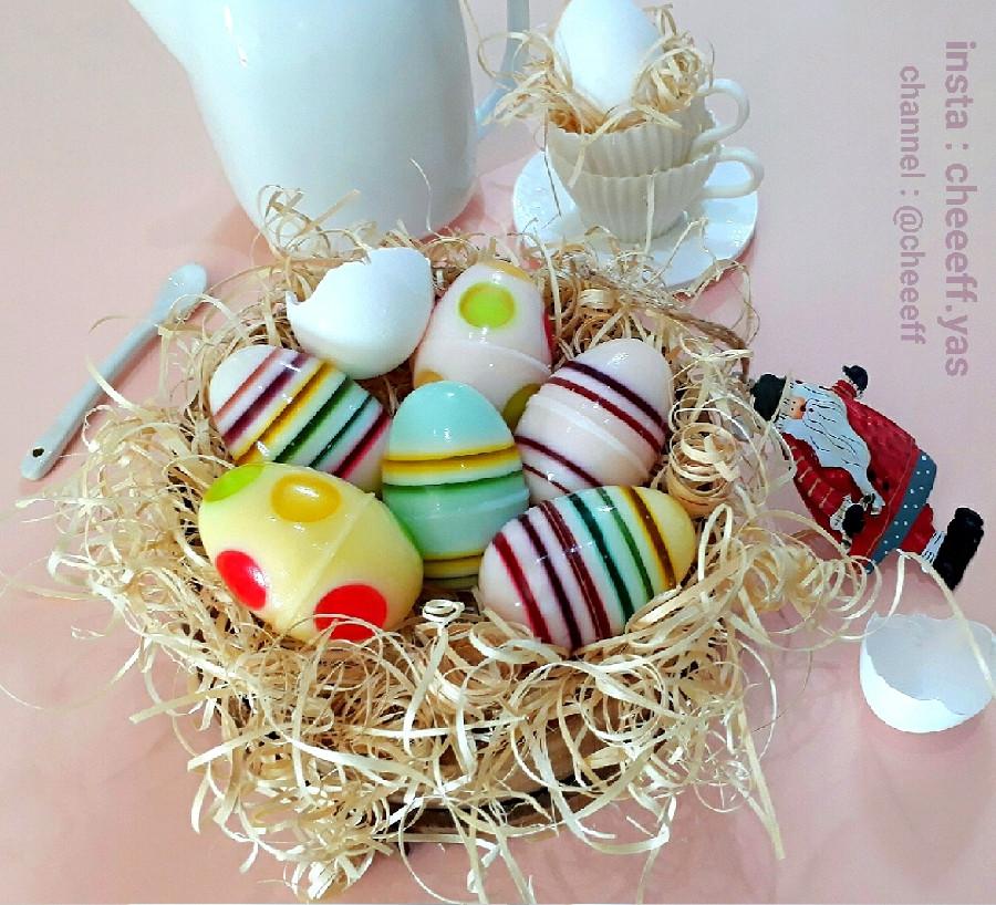 عکس ژله تخم مرغی