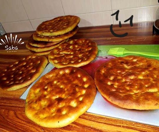عکس نان گرده خانگی(استان کردستان)