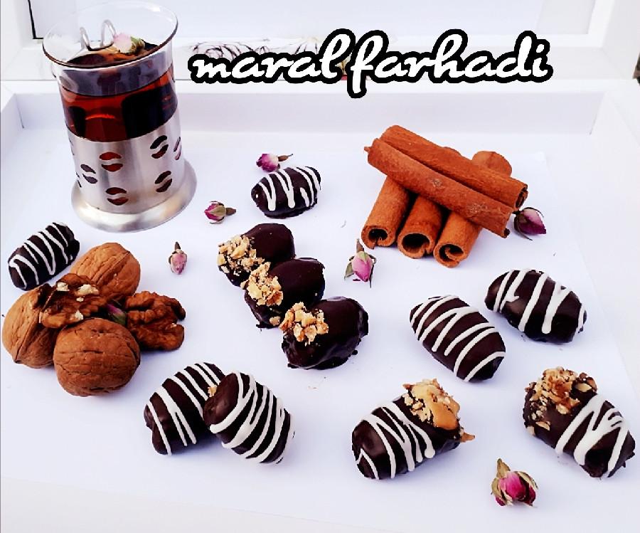 عکس خرما شکلاتی