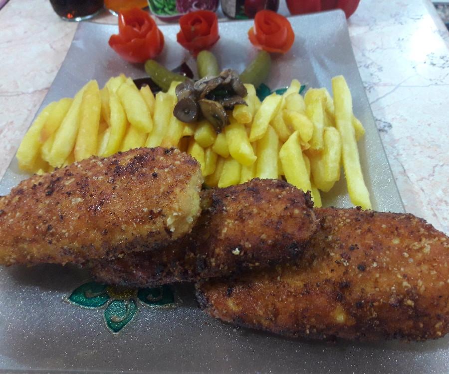 عکس کتلت مرغ شکم پر