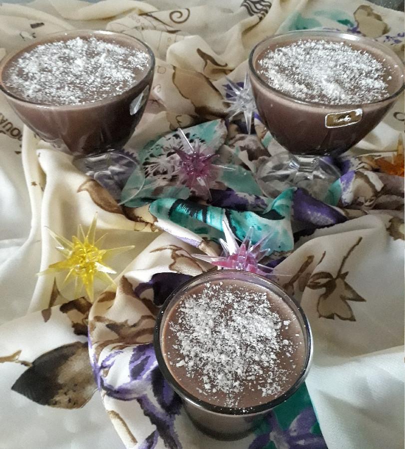 عکس دسر شیر کاکائو و قهوه