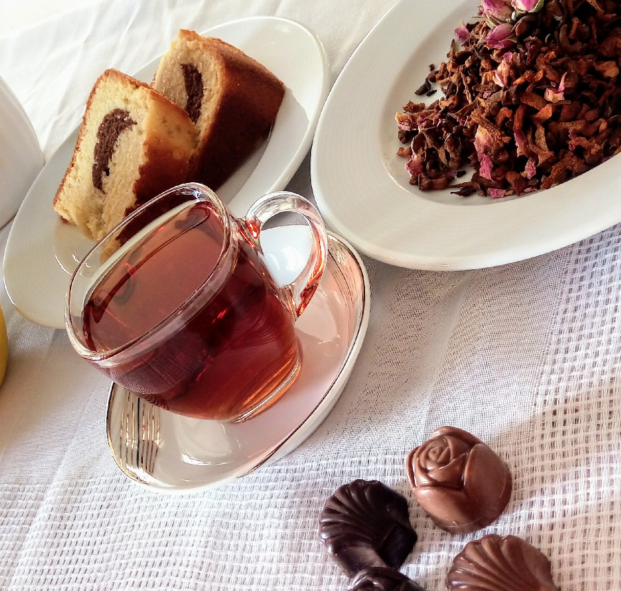 عکس چای بهشت(دمنوش میوه ای)