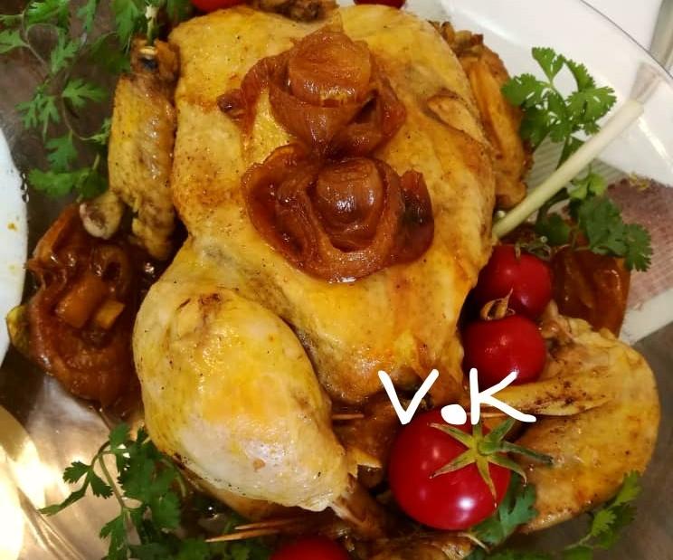 عکس مرغ شکم پر کاراملی