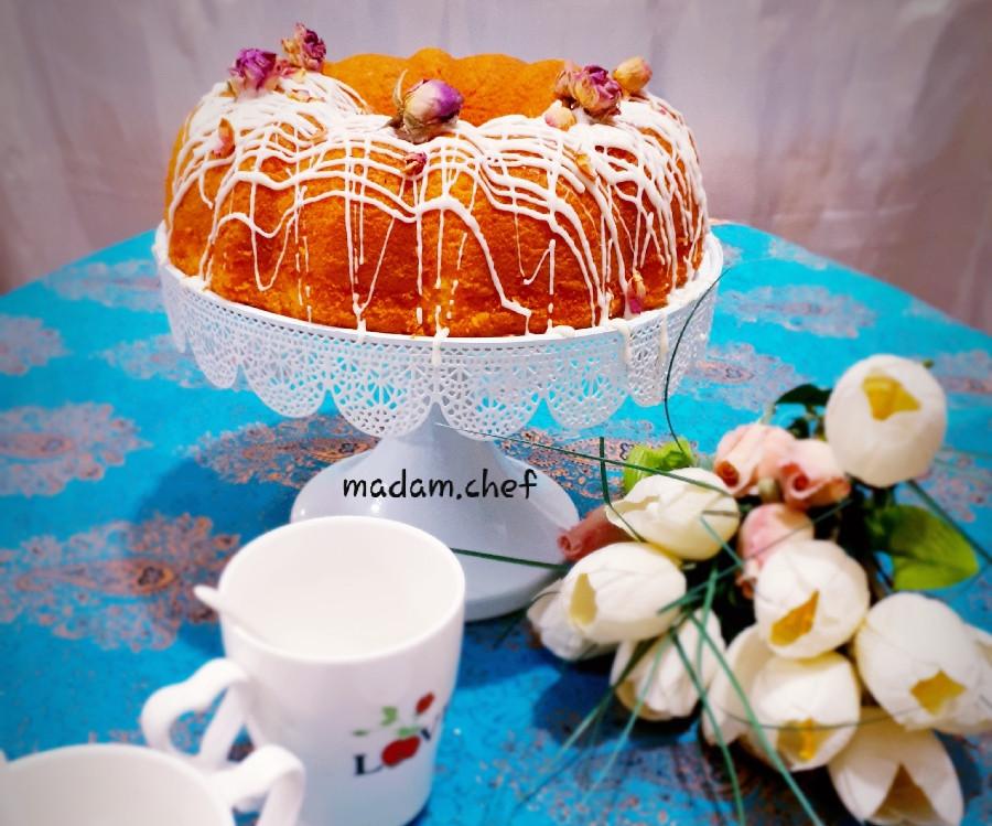 عکس کیک گلاب