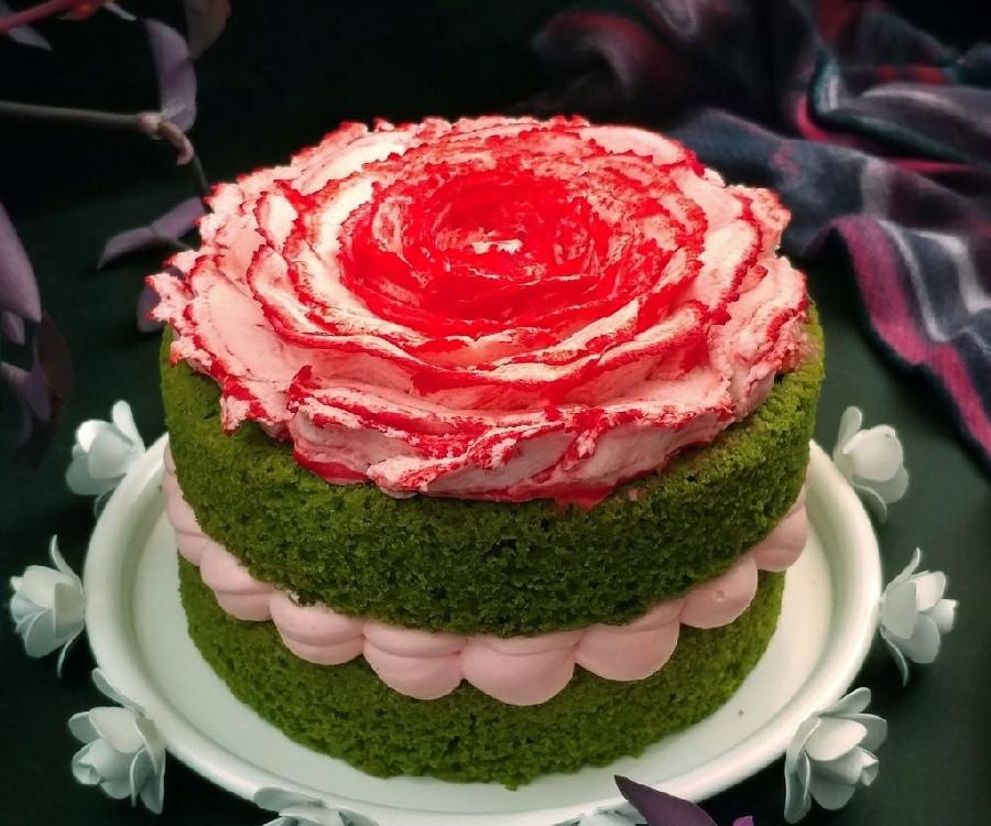 عکس کیک اس�ناج و کرم چیز �راستینگ