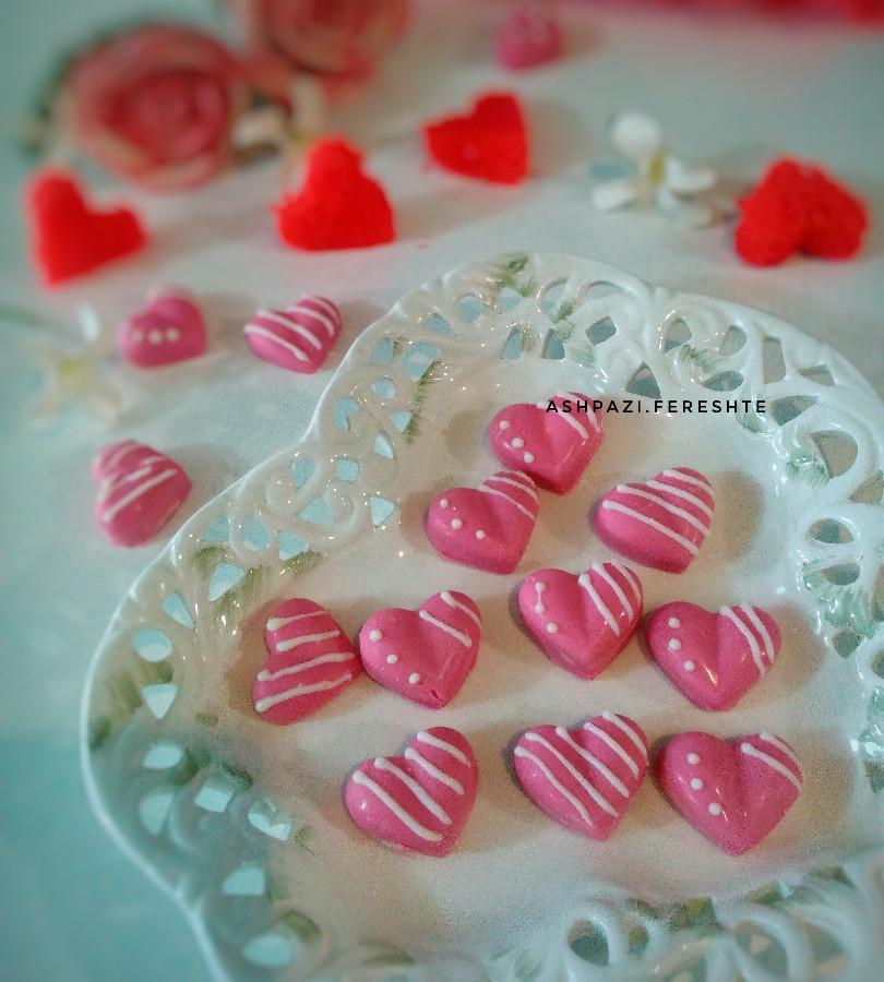 عکس شکلات پشمکی ویژه روز عشق