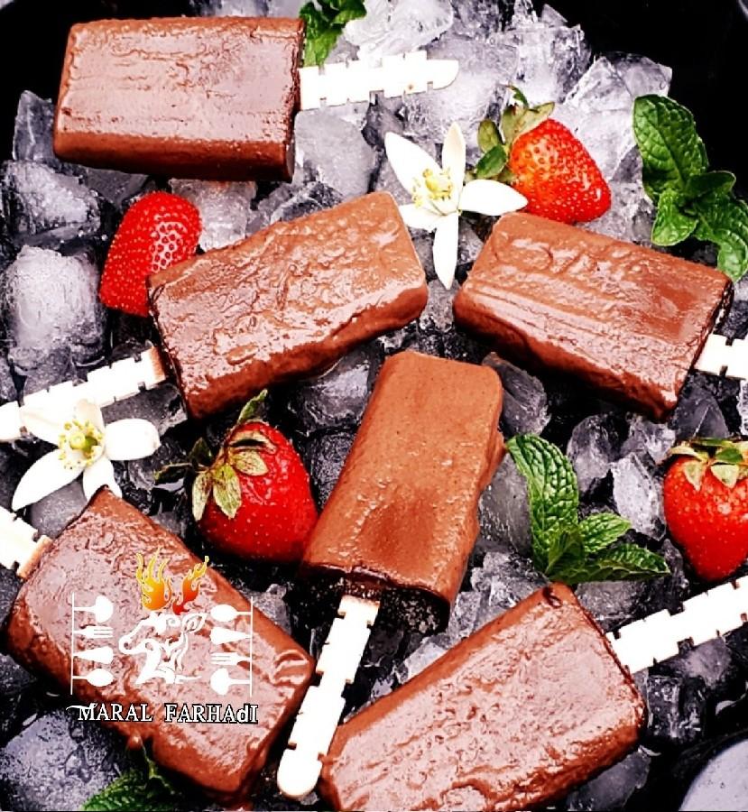 عکس بستنی چوبی فاج شکلاتی