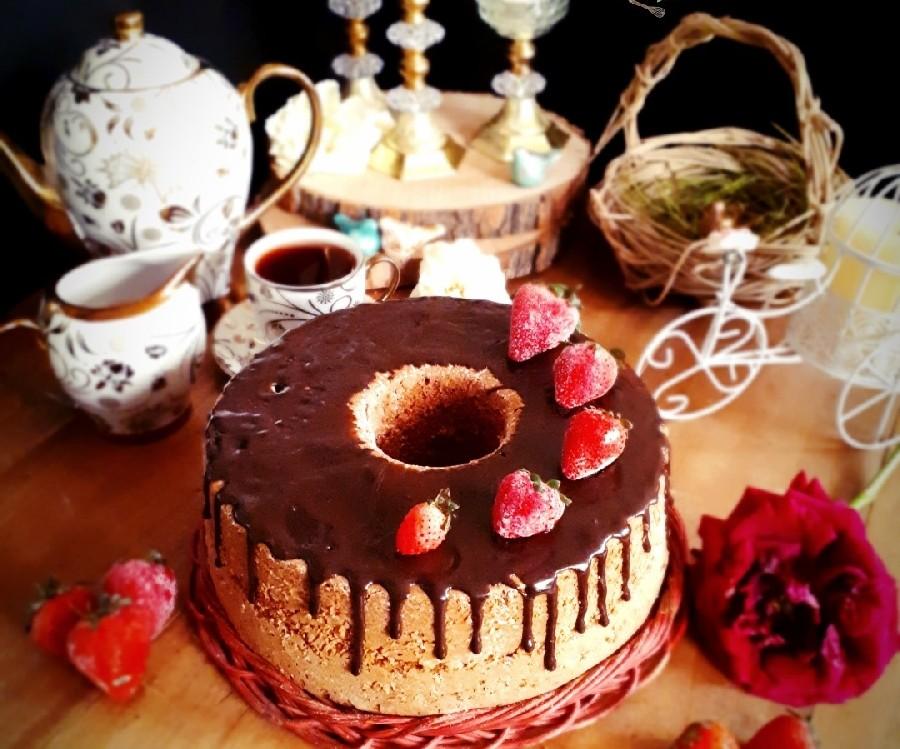 عکس کیک مربای توت �رنگی