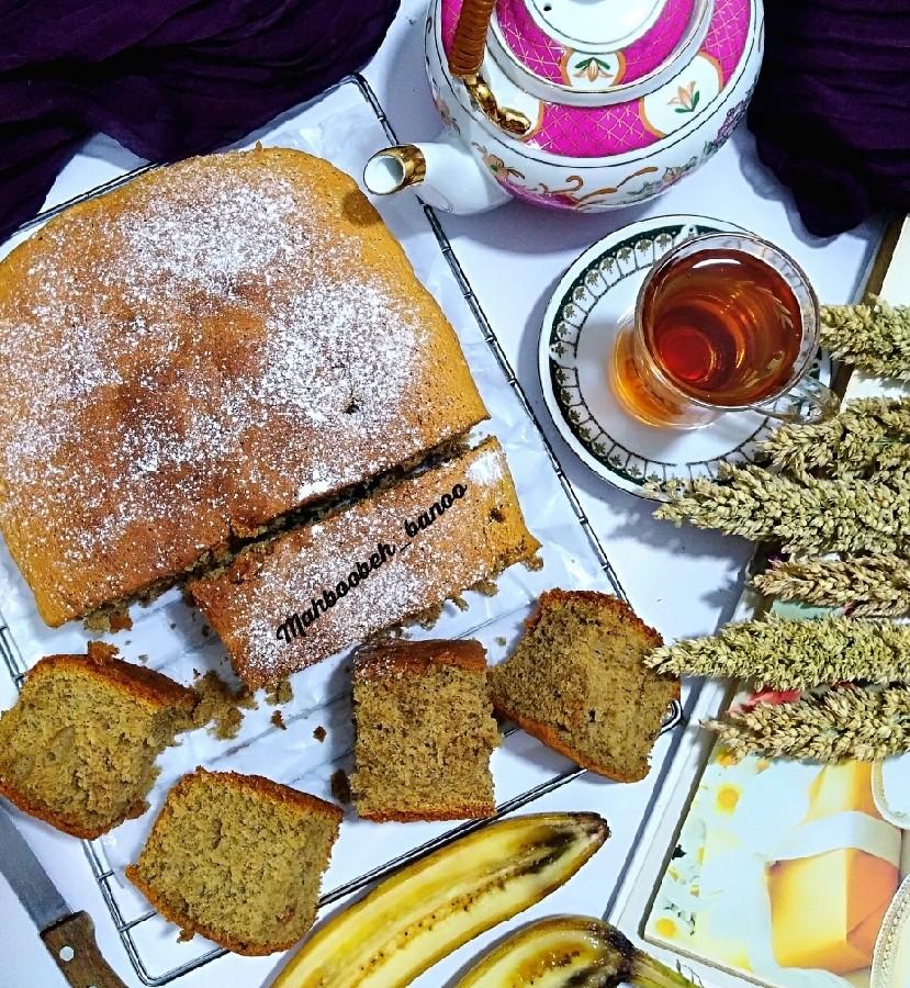عکس کیک موز ونسکافه