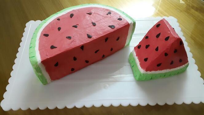 عکس کیک هندوانه ای