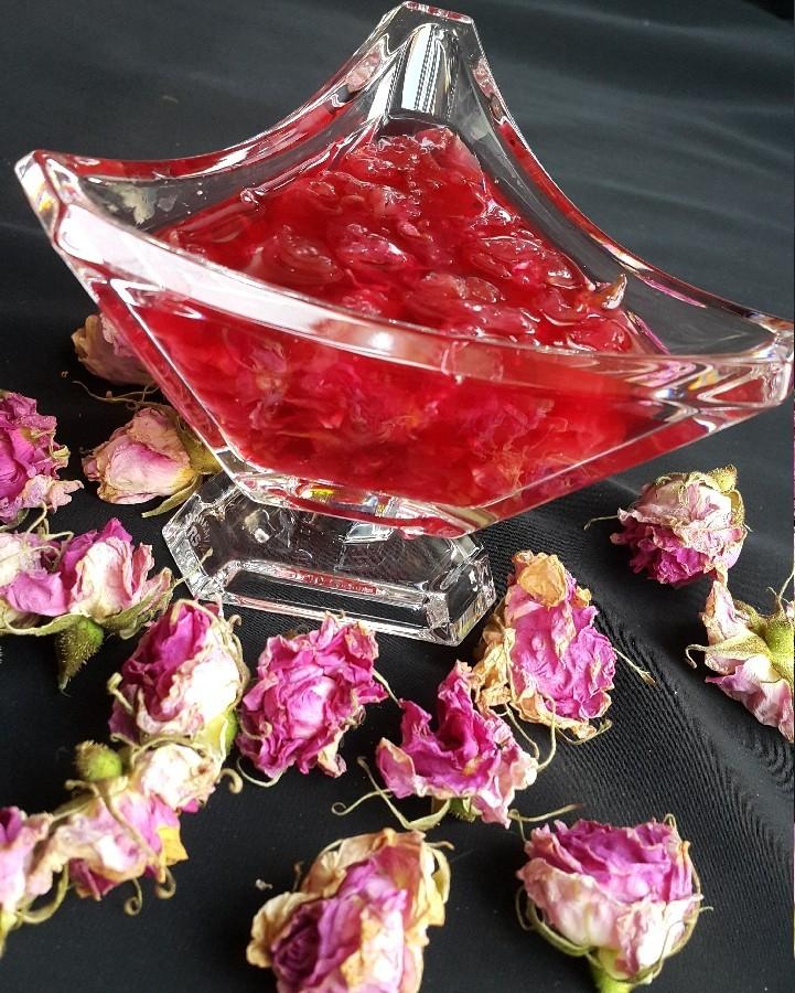 عکس مربا گل سرخ
