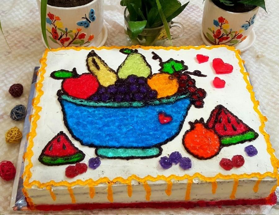 عکس تزیین کیک با ژله