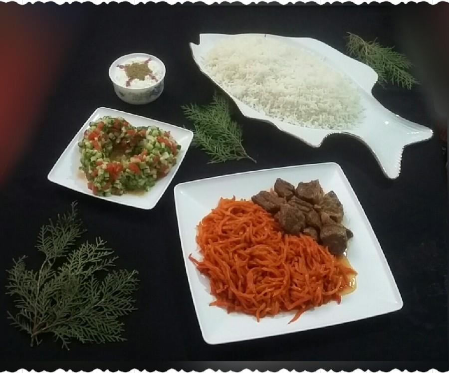 عکس خورشت هویج با گوشت