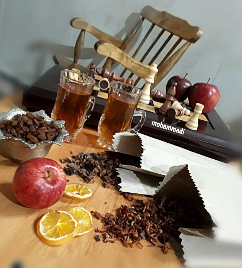 عکس چای سیب