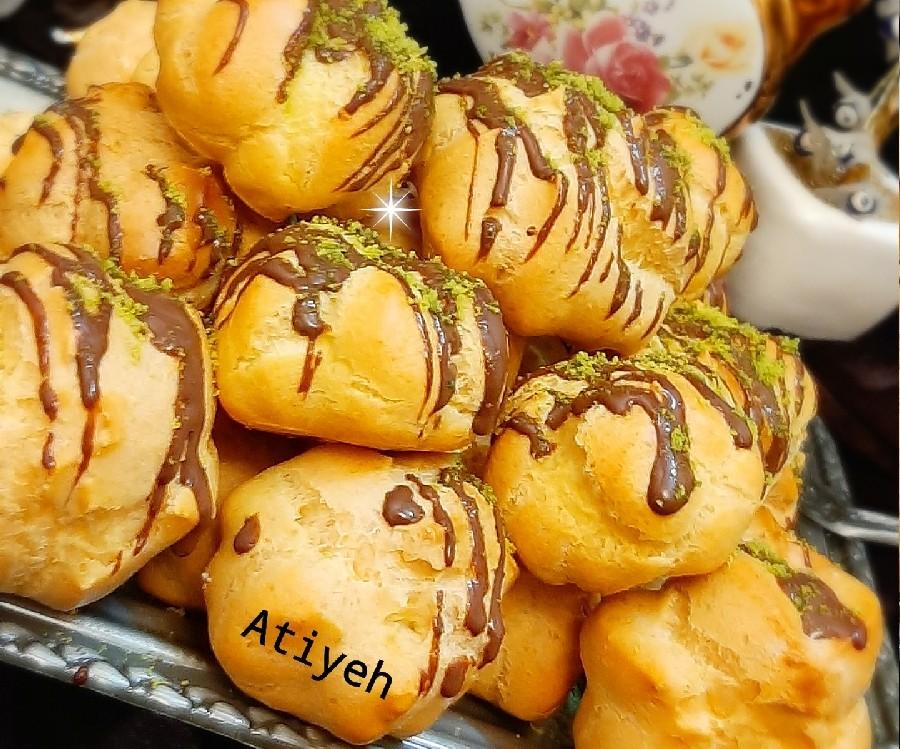 عکس نان خامه ایی لقمه ایی در توستر