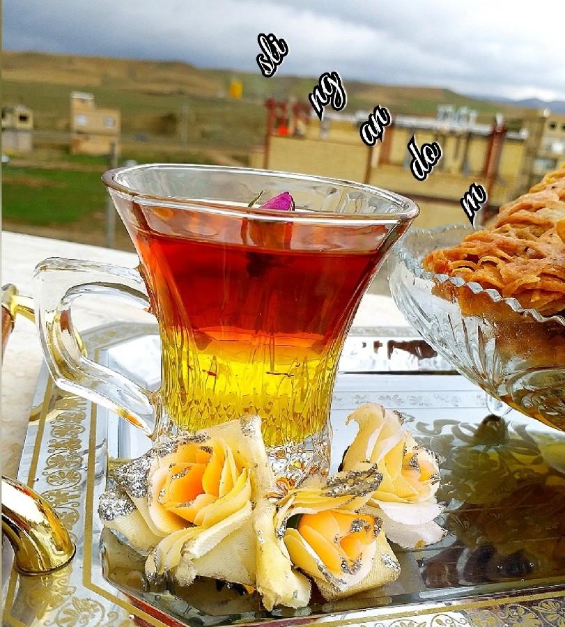 عکس چایی دو رنگ مجلسی